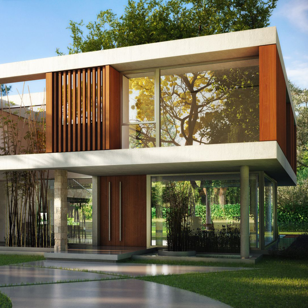 Design visualization of a modern House in the Country. Client: m2arq.
