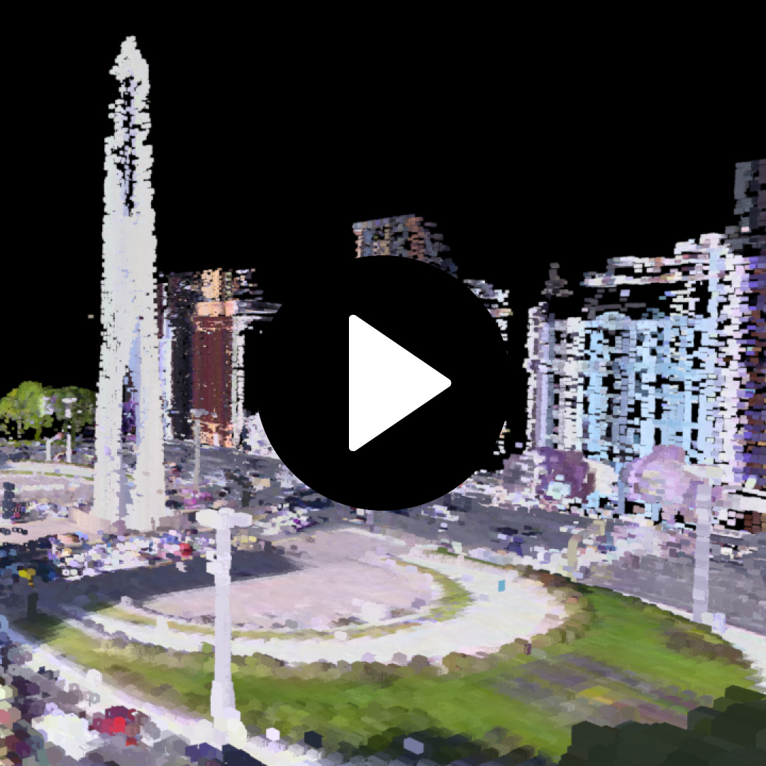Point Cloud rendering and animation. Client: Ladotres.
