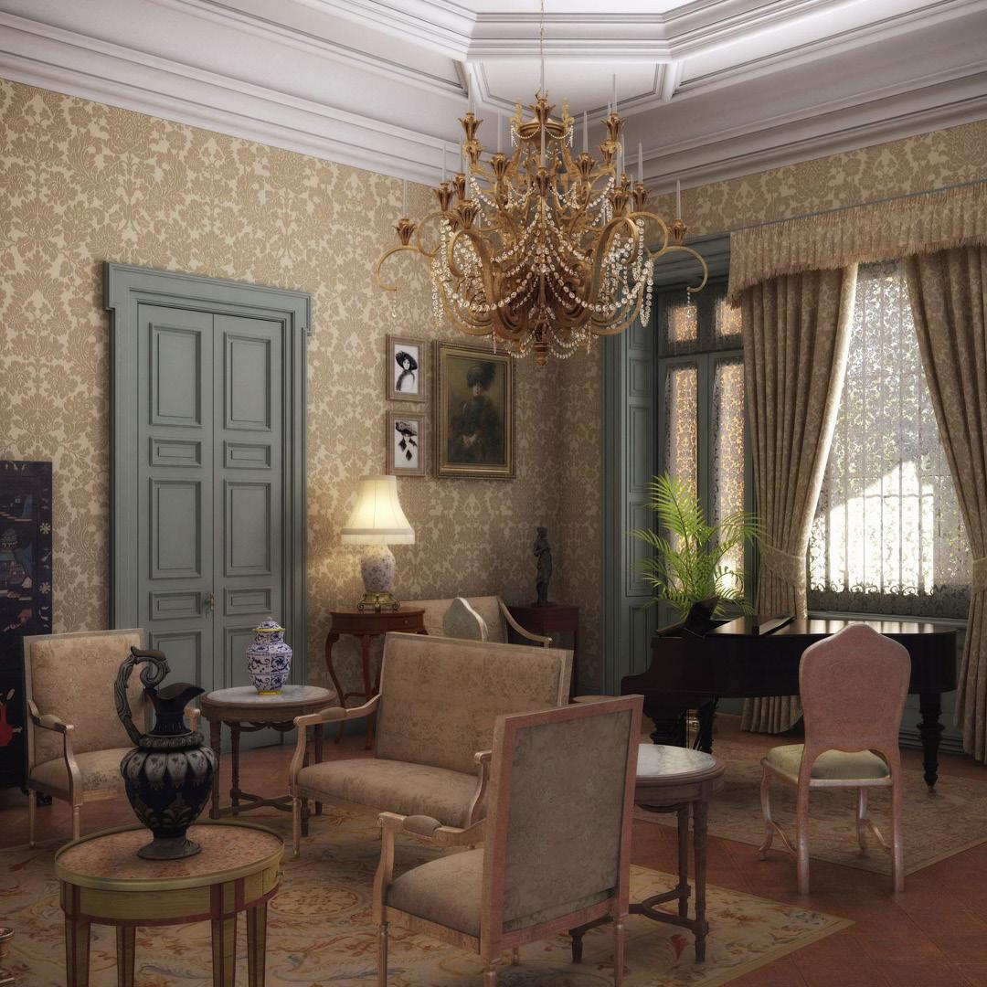 """Recreación histórica de la villa durante la Belle Époque, para la exposición """"La gran Ilusión"""". Cliente: Unesco Villa Ocampo."""