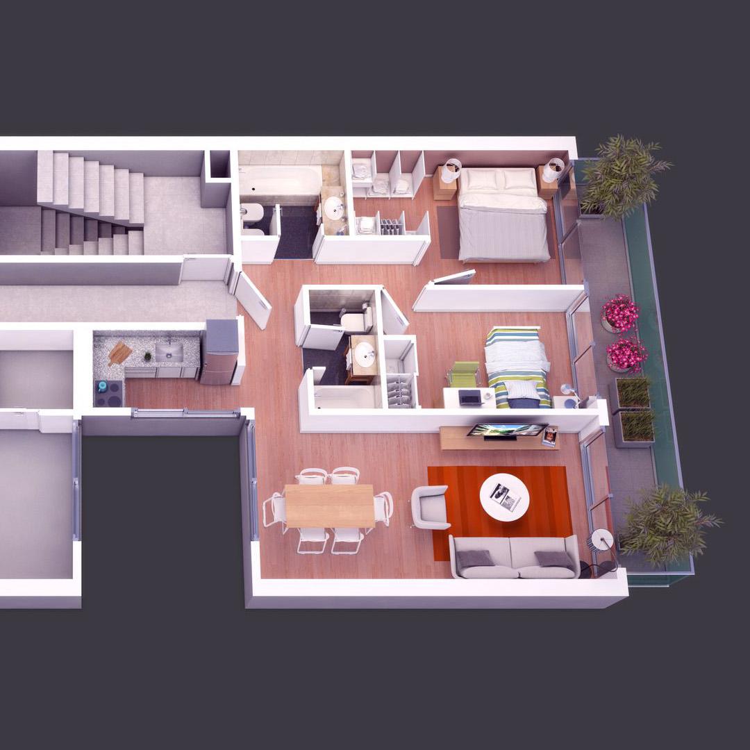 Visualización de diseño. Cliente: Merener Arquitectos.