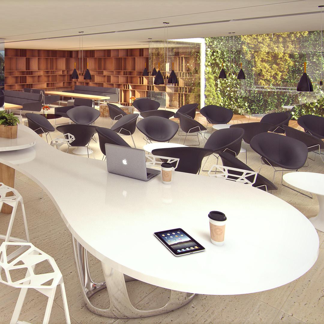 Espacios pensados para la juventud. Visualización de diseño. Edificio institucional con espacios múltiples. Cliente: m2arq.