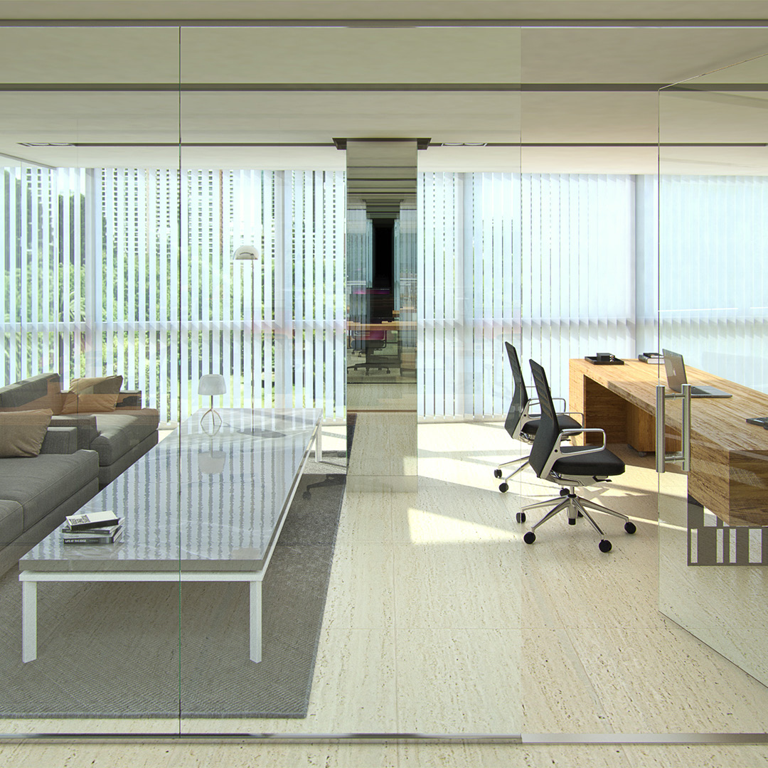 Administrative office. Design visualization.Institutional building with multiple spaces. Client: m2arq.